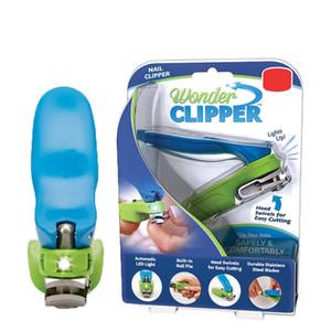 Led Wonder Clipper Ножницы для ногтей Педикюр 150 градусов Поворотная головка из нержавеющей стали Набор для триммера для ногтей для маникюра в розничной упаковке