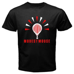 2018 Mode Nouveau Modest Mouse Logo Indie Rock Band Hommes Noir T Shirt 100% Coton À Manches Courtes De Mode Coton T-shirts