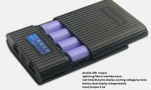 العرض الرقمي مصدر المحمولة الأكثر شعبية مع أربعة 18650، DIY bank.phone قوة البنوك والكهرباء الإكسسوارات (لا تشمل البطاريات)