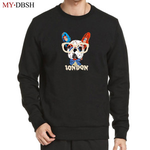 Nette Gläser Dog Printed Hoodies 2018 Graffiti Printed Sweater Hip Hop Skateboards Maxi-Baumwollhoodies