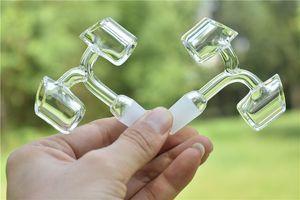 100% echt quarz dicke 4mm 90 ° quarz banger nagel neueste design doppelköpfigen club banger domeless quarz nagel 14mm / 18mm, männlich / weiblich