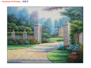 Thomas Kinkade Landscape Oil Painting Reproduction Handpainted Canvas Wall Art Modern Contemporary Home Decor, Multi Sizes,Office Hotel Deco