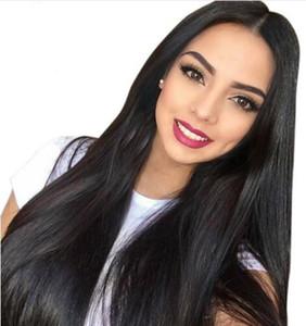 Длинные прямые волосы естественный вид бесклеевой кружева фронт Wi полный волосы парик шнурка для афроамериканцы женщина 8-28 дюйм человеческих волос