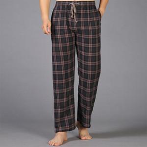 Summer Cotton Sleep Bottoms Mens Pyjama Simple Sleepwear Pants Pijamas for Male Sheer Mens Pants Pijama Trench Plus Size home