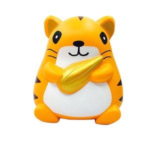 12 CM Squishy Hamster Lento Rising Squeezable Stress Reliever Fun Cura Brinquedos de Presente de Descompressão Brinquedos Para Crianças Adultos Alivia