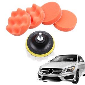 Car Sponge Woolen Polishing Waxing Pad Kit Set with Drill Adapter (4 Inch)