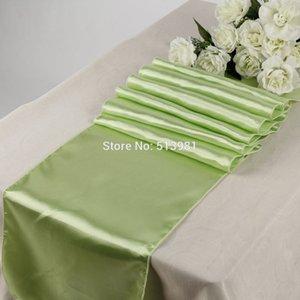 """Alta calidad 2 UNIDS 30 * 275 cm 21 colores Satin Table Runners 12 """"x 108"""" Decoraciones para bodas"""