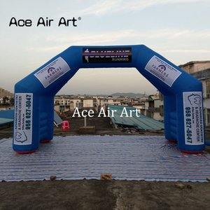 2018 neue angekommen Blau Inflatable Startlinie / Ziellinie Bogen / Bogen / Eingangsbereich Kleine Zeituhr mit herausnehmbaren Bannern kann hängen