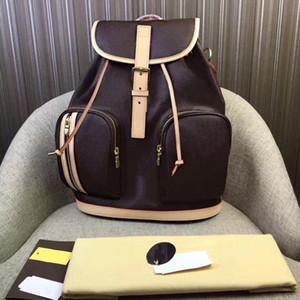 Atacado clássico couro mochila de moda senhoras bolsa de armazenamento de computador mochila simples retro homens de viagem neutra mochila de armazenamento