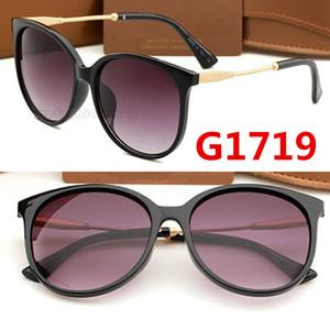 1719 дизайнерские солнцезащитные очки бренда Eyeglasses Открытые оттенки PC кадр моды классическая леди роскошные солнцезащитные очки очки для мужчины и женщин