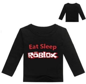 2018 Nouveau Printemps Automne ROBLOX Bébé Garçons T Shirt Enfants Vêtements Enfants À Manches Longues T-shirt Filles Coton Dessin Animé Tops Tee 2-14Y
