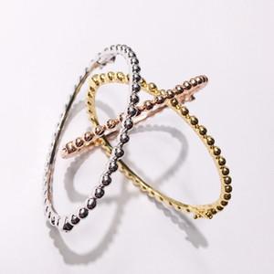 Dış ticaret sıcak moda marka takı Bakır altın kaplama takı toka parlak boncuk bilezik dar versiyonu
