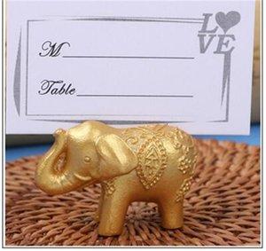 Partito Disposizione Gift Card Clip sveglia oro piccolo elefante di sicurezza Clips Stile Europeo favori di nozze Per Ospite 2 3lt Ww