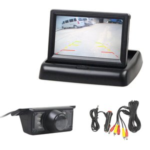 DIYKIT 4.3 인치 Foldable 자동차 모니터 반전 카메라 키트 HD 자동차 후면보기 카메라 IR 야간 투시경
