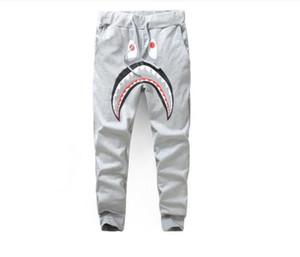 Men 'S Negro Gris Shark Pant Pantalones Moda Harem Pantalones WGM Otoño Invierno Fleece deportiva pantalones largos del basculador Operando Sweatpa