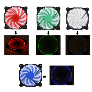 VBESTLIFE Computer Fans 120mm Mute LED Light PC Case Fans Cooling Cooler Fan Motherboard 3Pin+Large 4Pin Free Shipping