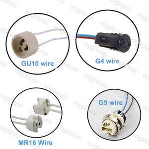 MR16 / GU10 / G4 / G9 conector de fio conduzido LED soquete LED lâmpada de halogênio Bases de lâmpada de iluminação Epacket