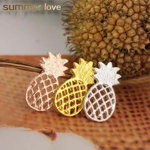 Güzel Gül Altın Gümüş Altın Kaplama Hollow Ananas saplama Küpe İçin Kadınlar Kişilik Tasarım Sevimli Alaşım Küpe Takı Charm