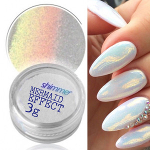 MERMAID EFFET GLITTER NAIL ART POUDRE DUST GLIMMER Hot Nails Iridescent 3g Nail Supplies
