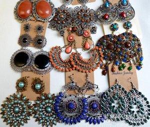 혼합 스타일 긴 귀걸이 용 대량 수지 Galzed Fashion Bronze Bohemian Tassel 샹들리에 보석 매달아 여성 빈티지 쥬얼리 귀 VQMP