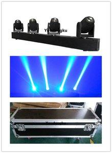 4 штуки с flightcase 4 луча LED перемещение головы 4*10 Вт RGBW Сид миниая moving головка водить карандашом луч света