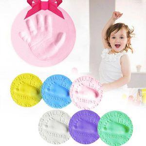 2pcs lot Baby Handprint Footprint Fingerprint Ink Air Drying Soft Polymer Clay Keepsake Kits 6 Colors Hand Inkpad Keepsakes