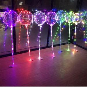 Luminoso LED Globos con palo iluminado Up Balloon Kids Toy Fiesta de cumpleaños Decoraciones de la boda