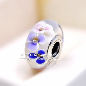 2018 Spring Release S925 Sterling Silver Spring Flowers Murano Glass Charm Beads Fits All European DIY Bracelets Necklaces ZS358
