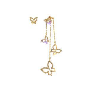 Cute Star Herz Schmetterling Ohrringe für Frauen Silber Gold baumeln Ohrringe 5Styles für Frauen Girl Geschenk 925 Sterling Silber asymmetrische Ohrringe