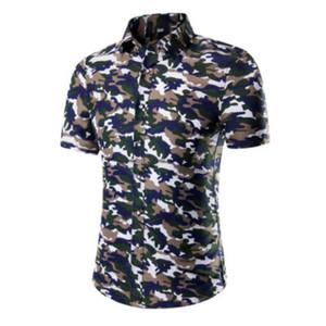 Hombres Camisas Casuales Nuevo Diseñador de Verano Camisa Hawaiana Impresa Casual Camisas de Lujo Vestido de Impresión Masculino Traje Más Tamaño 12 Estilos