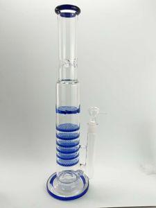 MAVI Percolator bongs petrol kuleleri altı petek difüzör cam su bong kalın 5mm sigara su boruları nargile