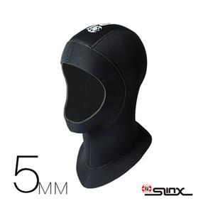 Slinx 3 мм 5 мм неопрена Мужчины Женщины подводное плавание подводное плавание шеи Hat полное лицо маска водонепроницаемый теплый подводная охота плавание капот Cap