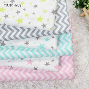 TIANXINYUE 6 unids/lote onda estrella tela de algodón Patchwork DIY acolchado costura Fat Quarters paquete tejido Telas Tilda costura