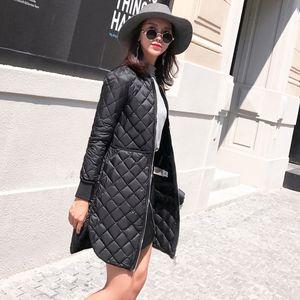 Frauen Jacke 2017 Herbst Winter Neue mode Parkas Gepolsterte damen mäntel lange gesteppte jacken kragen dünne kleidung oberbekleidung A940