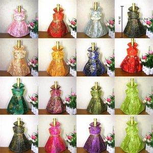 Sacchetto del regalo della bottiglia di vino del vestito da principessa Porcellana Broccato di seta vestiti Handmade Cheongsam Arti classiche di arti decorative Decorazione della tavola del partito 5 5jy bb