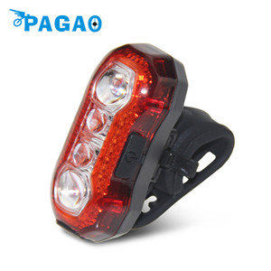 PAGAO 4-leds bicycle tail light 5 Modes Bicycle Bike Cycling Rear Tail Bicicleta Light Safty Warning LED 0125