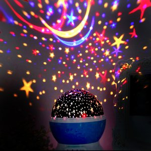 Christmas dream rotating Projection lamp Rotation Starry moon Star master Night Light Sky Romantic Decorating Hallowmas Birthday Party best