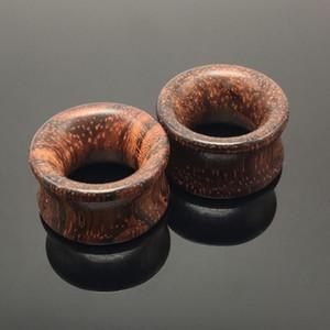 2 قطع الأزياء خشبي الأذن المقابس اللحم الأنفاق مقاييس 8-20 ملليمتر الأذن الزنمة المتوسع روزوود الخيزران الأرجواني القلب هيئة ثقب المجوهرات