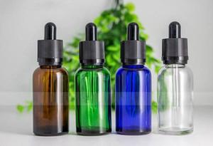 زجاجات السائل الزجاج الفارغة بالجملة 30 مل مع غطاء عبث الطفل زجاجات عصير الزجاج القطر من مصنعي الزجاجة