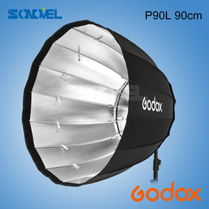 venta al por mayor P90L 90 cm Deep Parabolic Softbox con Bowens Mount Adapter Ring para Bowens Mount Studio Monolight Flash Light