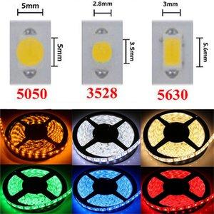 LED قطاع الخفيفة DC12V 5M 300 المصابيح SMD3528 5050 5630 الألوان DiodeTape واحدة عالية الجودة الشريط مرنة الرئيسية أضواء Decoation