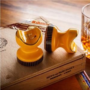 Nuovo arrivo di vendita COHIBA Cigar Ashtray Holder 2 pezzi tasca con scatola regalo titolare di sigari in ceramica