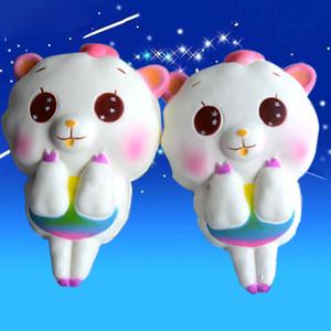 2018 nuevo Kawaii perfumado Cute Big Sheep Alpaca Squishy Slow Rising Soft Squeeze Fun Descompression Kids Toy Phone Straps Regalo para niños