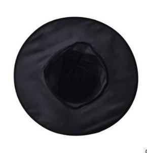Günstige Halloween-Kostüm-Party-Schwarz-Hexe Hüte Promotion kühlen Kinder Kinder Erwachsene Oxford-Kostüm-Party Props Cap Großhandel Günstige
