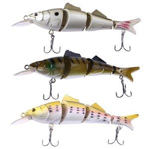 1pcs 39g 17cm Swimbait Fishing Lures Wobbler Minnow 4 Segments Crankbait 3D Eye Hard Artificial Bait Pesca with 2 Hooks