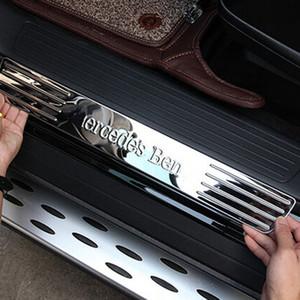 Benz mercedes ml320 ml350 ml400 için iç aksesuarları GLE W166 karşılama pedalı eşik eşik koruyucu güvenlik kapak kurulu sticker trim