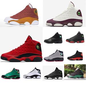 Pas cher Hommes Jumpman 13 XIII chaussures de basket-ball 13s Etats-Unis Noir Jaune Rouge Melo Or Blanc Vert Olive Bred Oreo AJ13 sneakers bottes J13 avec la boîte