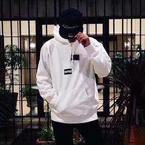 Melhor Qualidade Caixa Dividida Logotipo hoodies Skate Top Mens Designer de camisola Mulheres Street Casual dividir joint hoodie