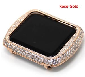 38mm 42mm per Apple Watch Series 3 2 1 cassa in oro rosa bling strass gioielli con diamanti in metallo lunetta 4 colori epacket gratis