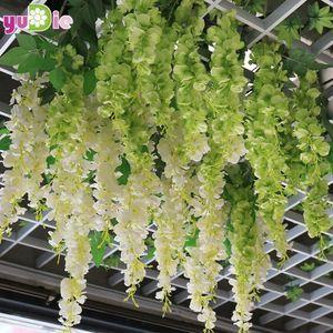 1pcs 30cm Inicio artificial de la manera del partido de hortensia boda romántica guirnaldas decorativas de seda de seda de glicinas flores artificiales